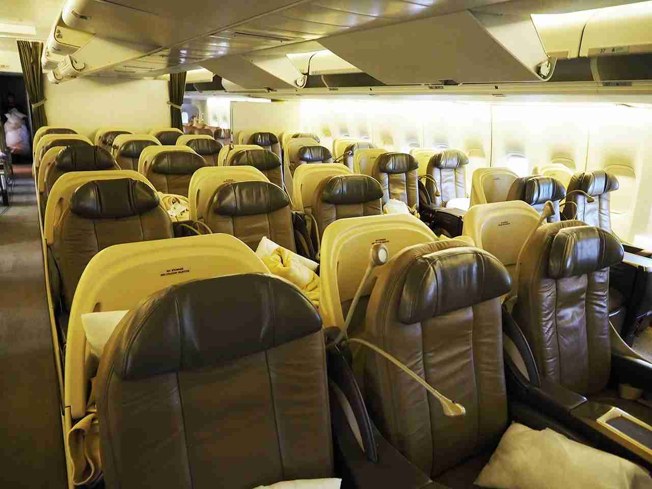 Premium Economy and Business Class seats onboard Atlas Air