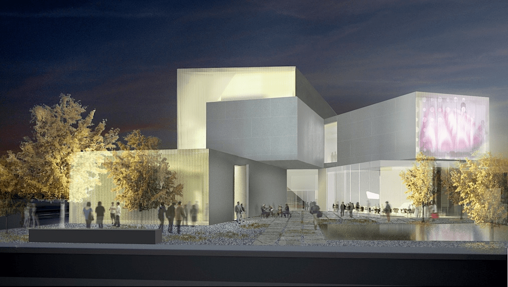 Rendering of the Institute for Contemporary Art at Virginia Commonwealth University.