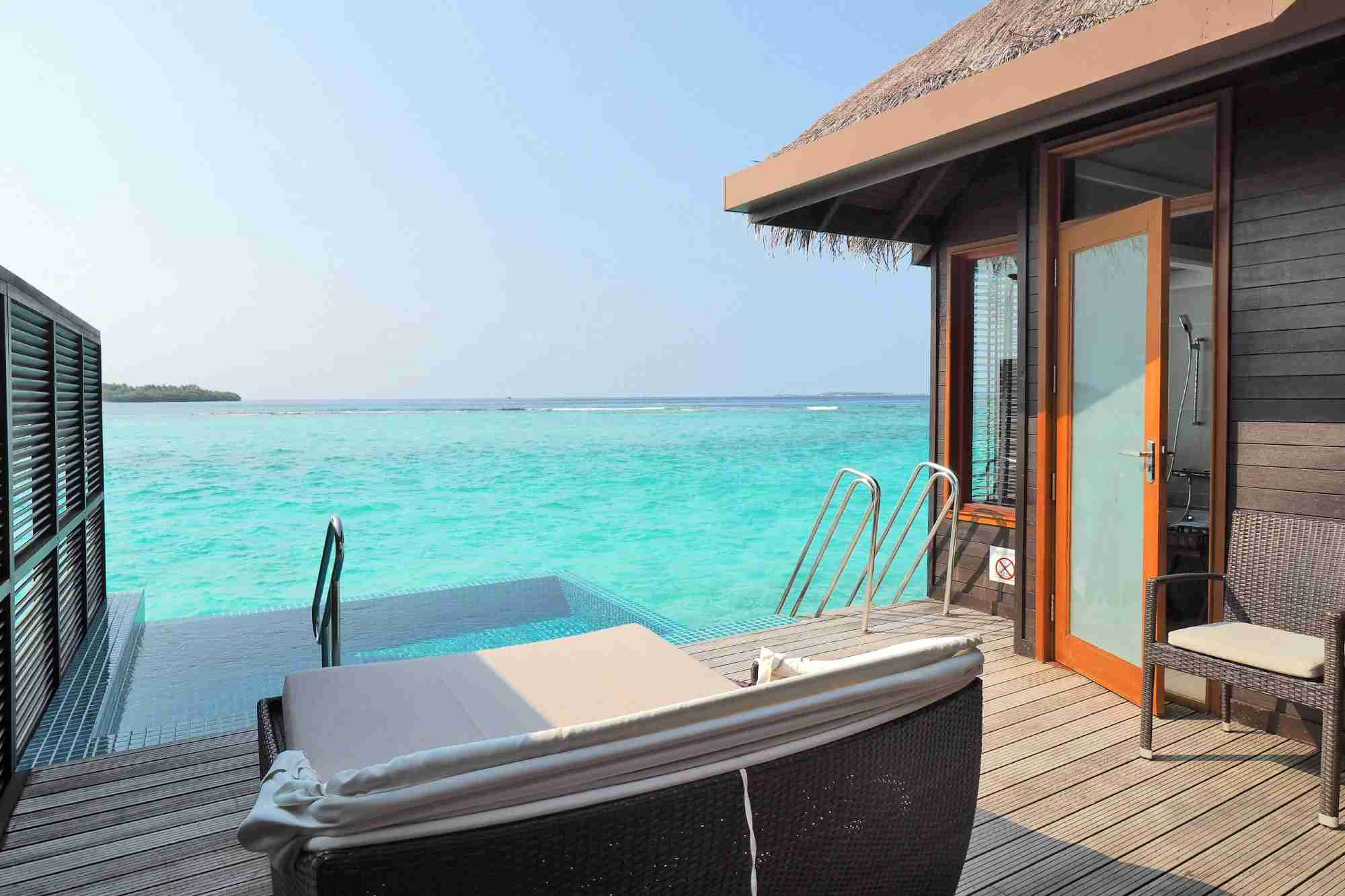 Overwater Bungalow at the Sheraton Maldives. (Photo by Zach Honig/The Points Guy)