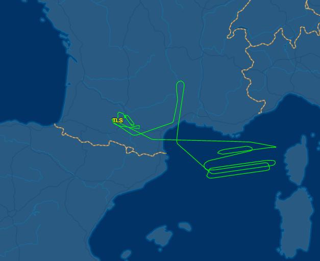 The flightpath of F-WZNY