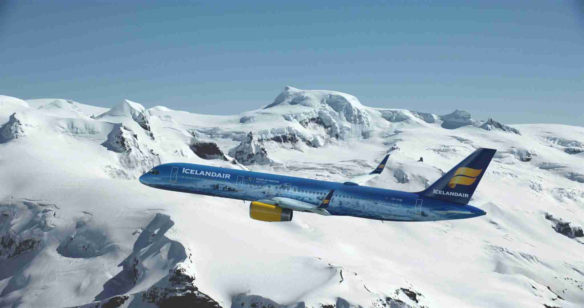 The Vatnajökull 757 (Photo courtesy of Icelandair)
