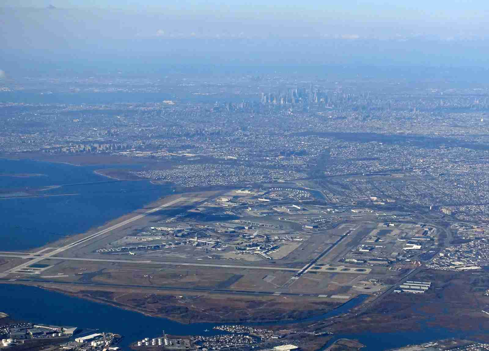 JFK airport and New York City from the air in December 2018 (Photo by Alberto Riva/TPG)