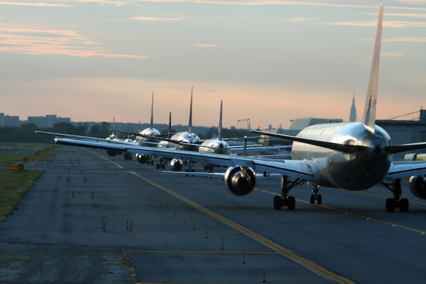 evening traffic at New York JFK airport. Photo by XavierMarchant / Getty Images.