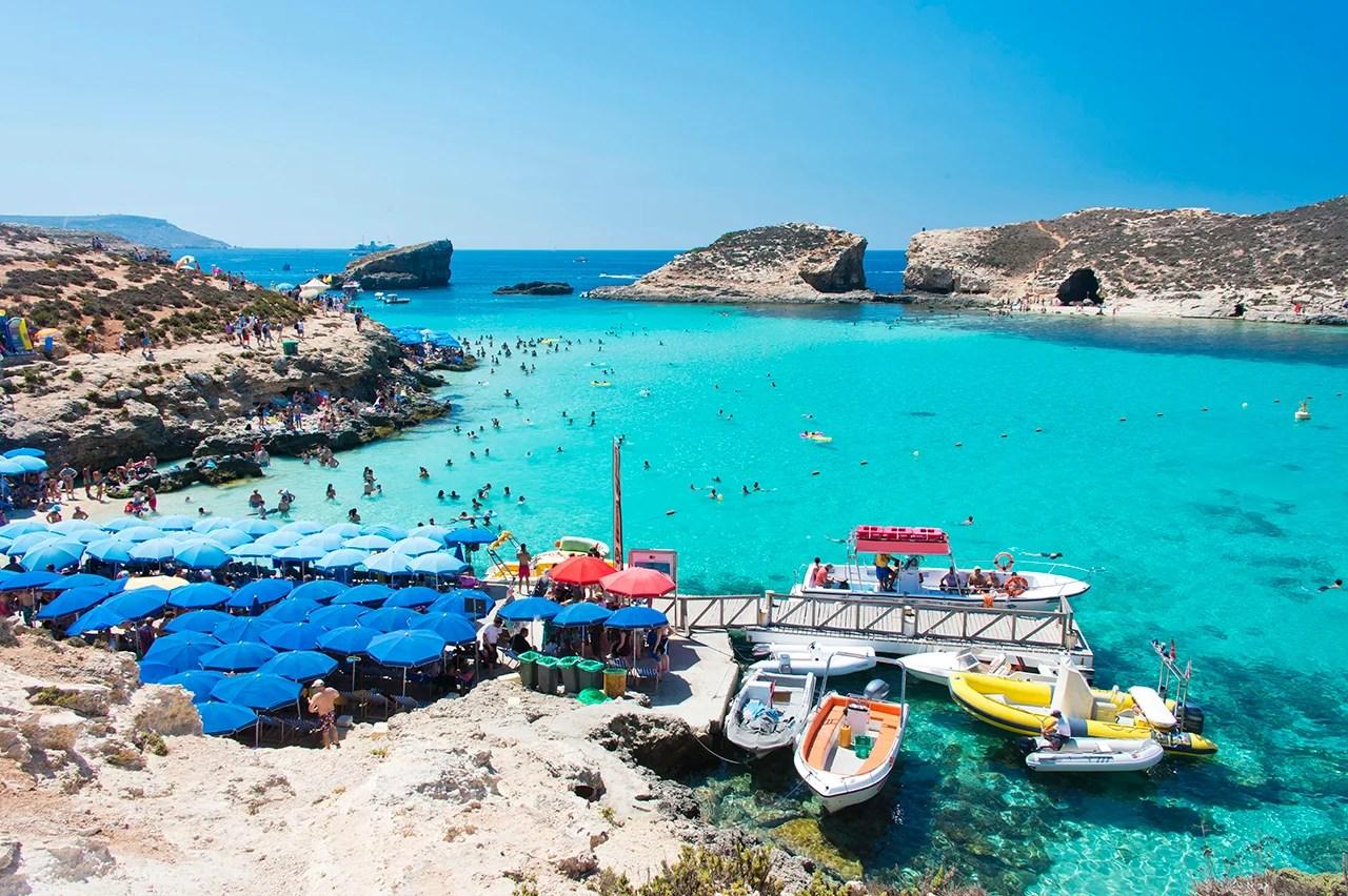 Blue Lagoon, Malta. (Photo by Paul Biris / Getty Images)