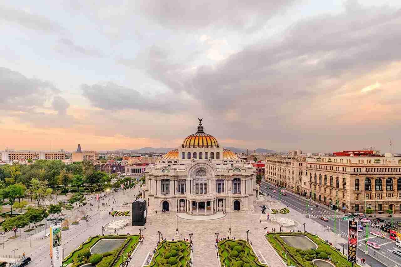 The magnificent Palacio de Bellas Artes in Mexico City. (Photo by Maria Sward / Getty Images)