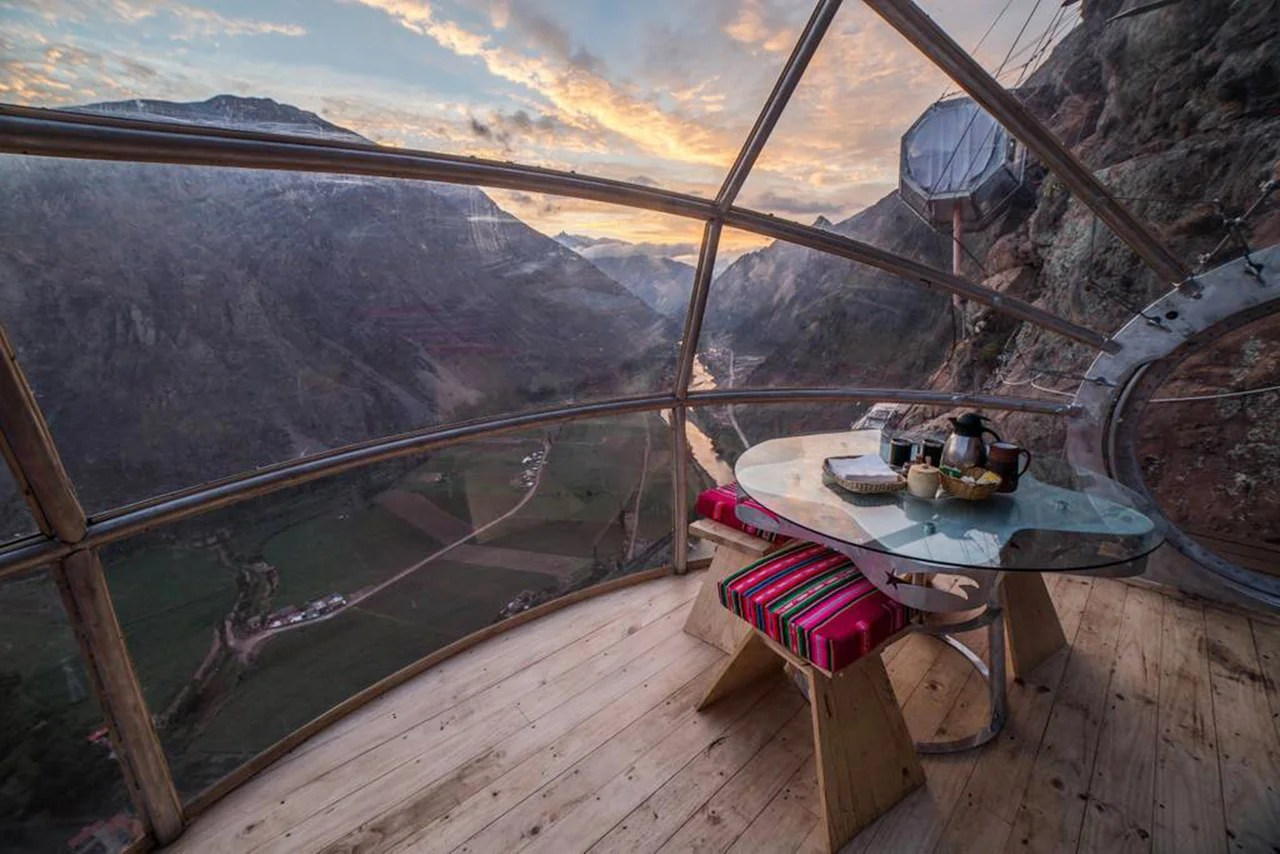 Would You Sleep in a Glass Pod Suspended From a Cliff in Peru?
