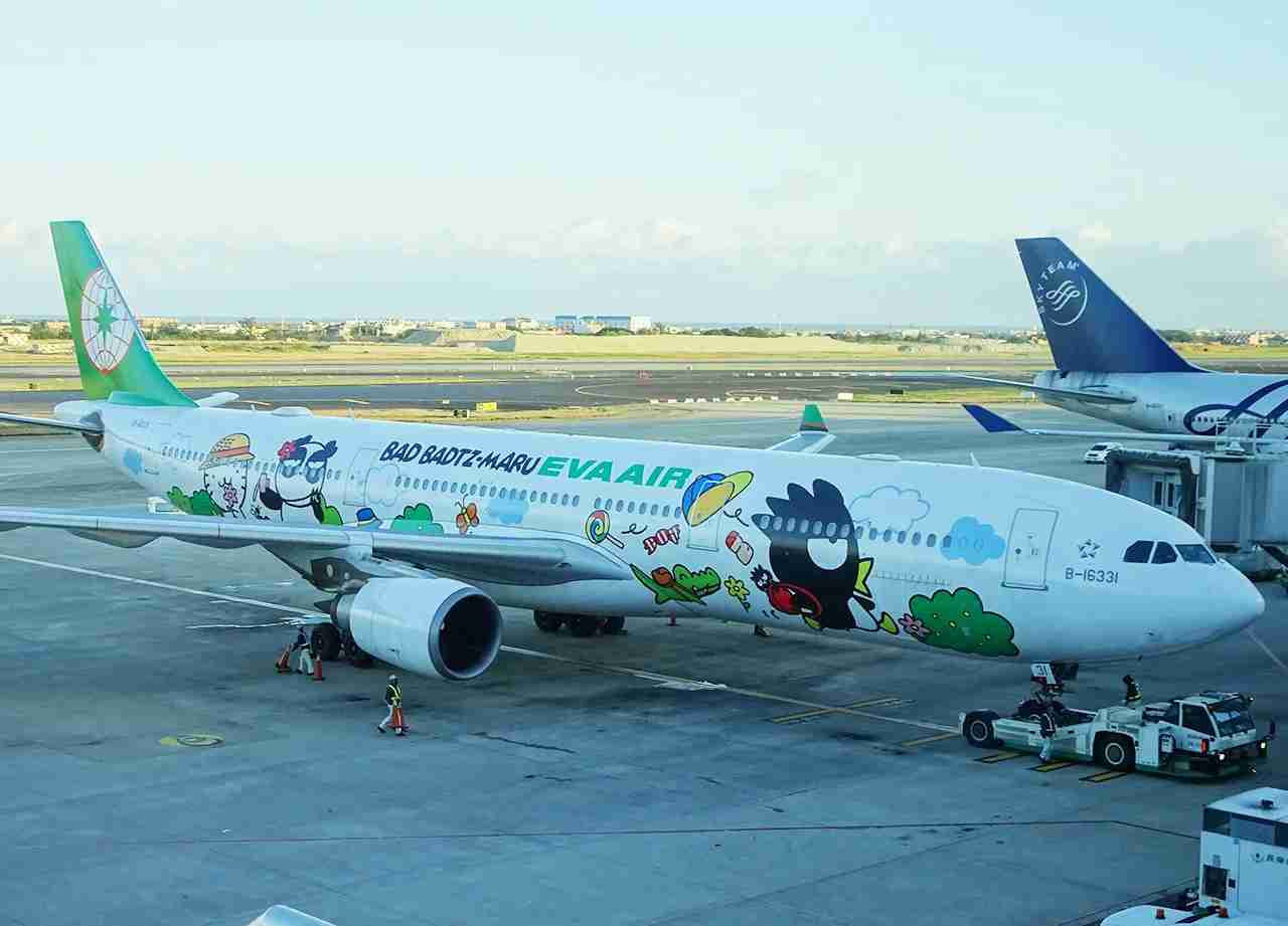 EVA Air is well known for its Hello Kitty livery aircraft.