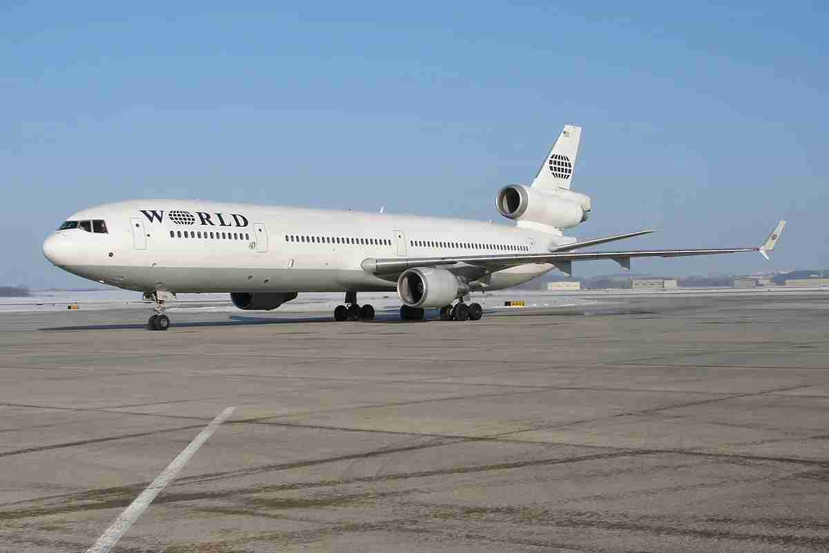 A World Airways MD-11 from the second incarnation of the carrier in 2010. Image by: Cory W. Watts, Wikimedia Commons