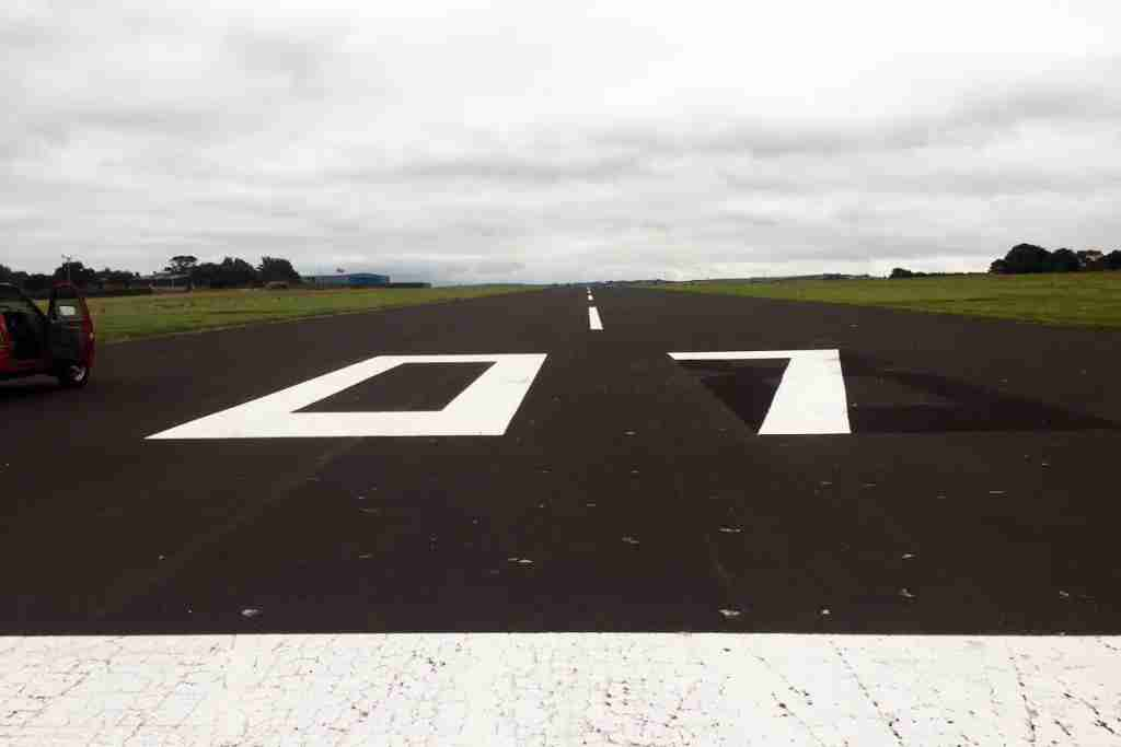 Repainted numbers at Wales West Airport. Image via Wales West Airport Twitter.