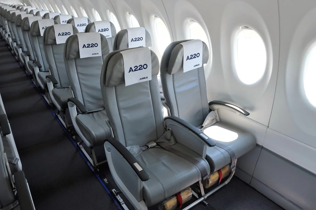 A Look Inside The First Airbus A220 300 Travel Blogs