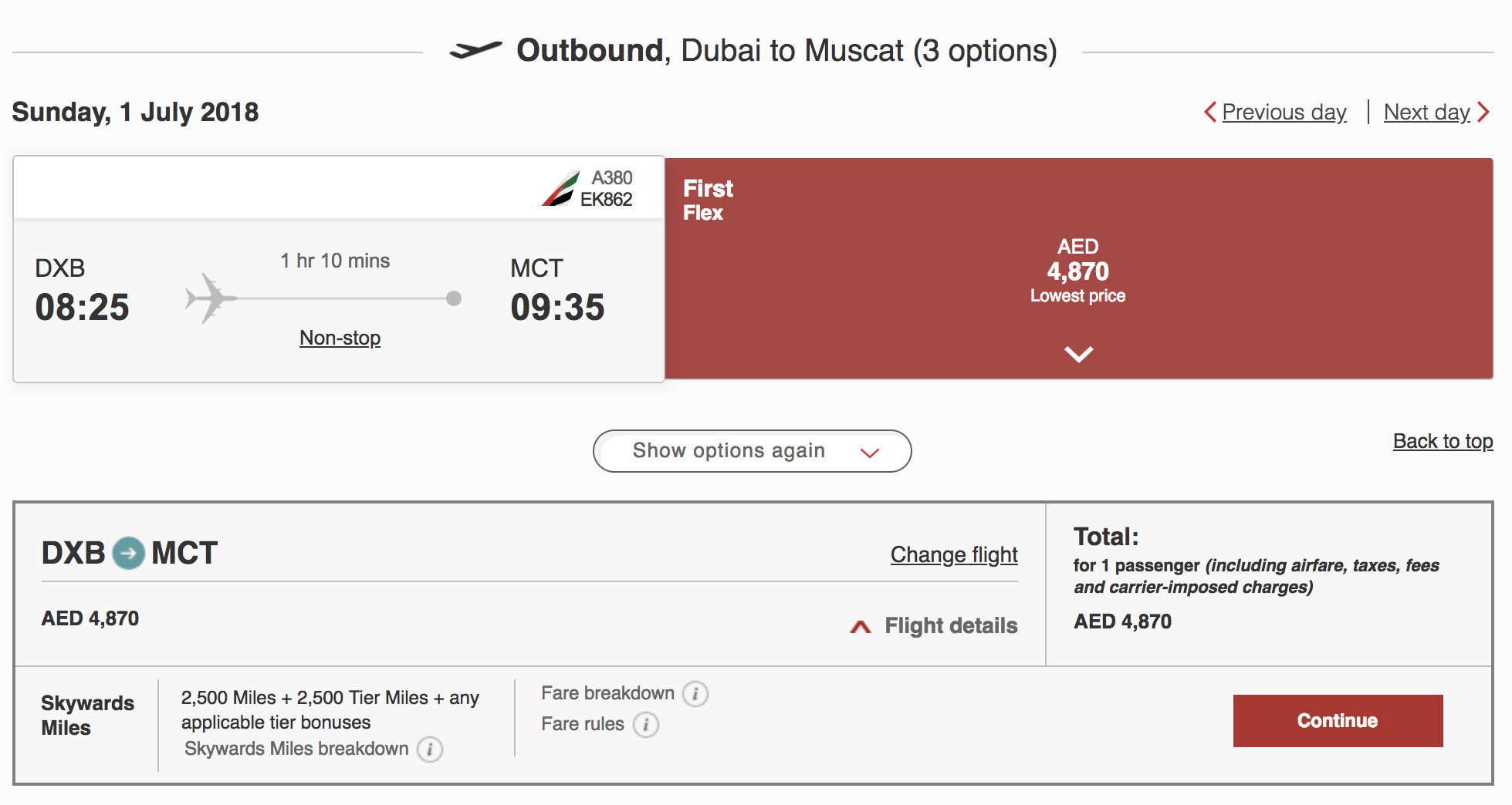 On the World's Shortest A380 Flight: Dubai to Muscat