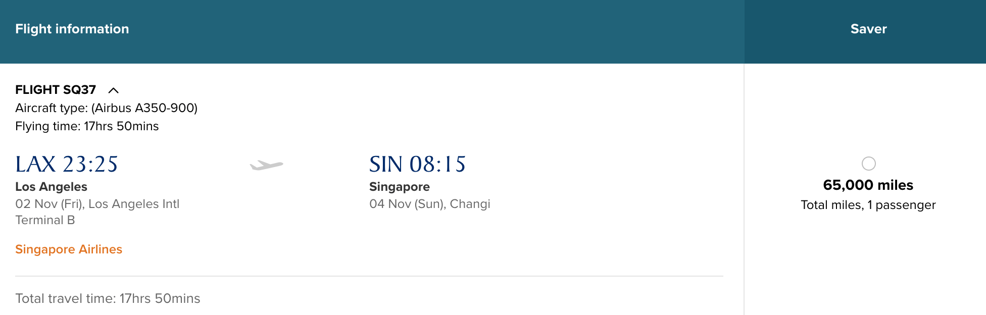 Singapore\'s Nonstop Flight to LAX Launches November 2