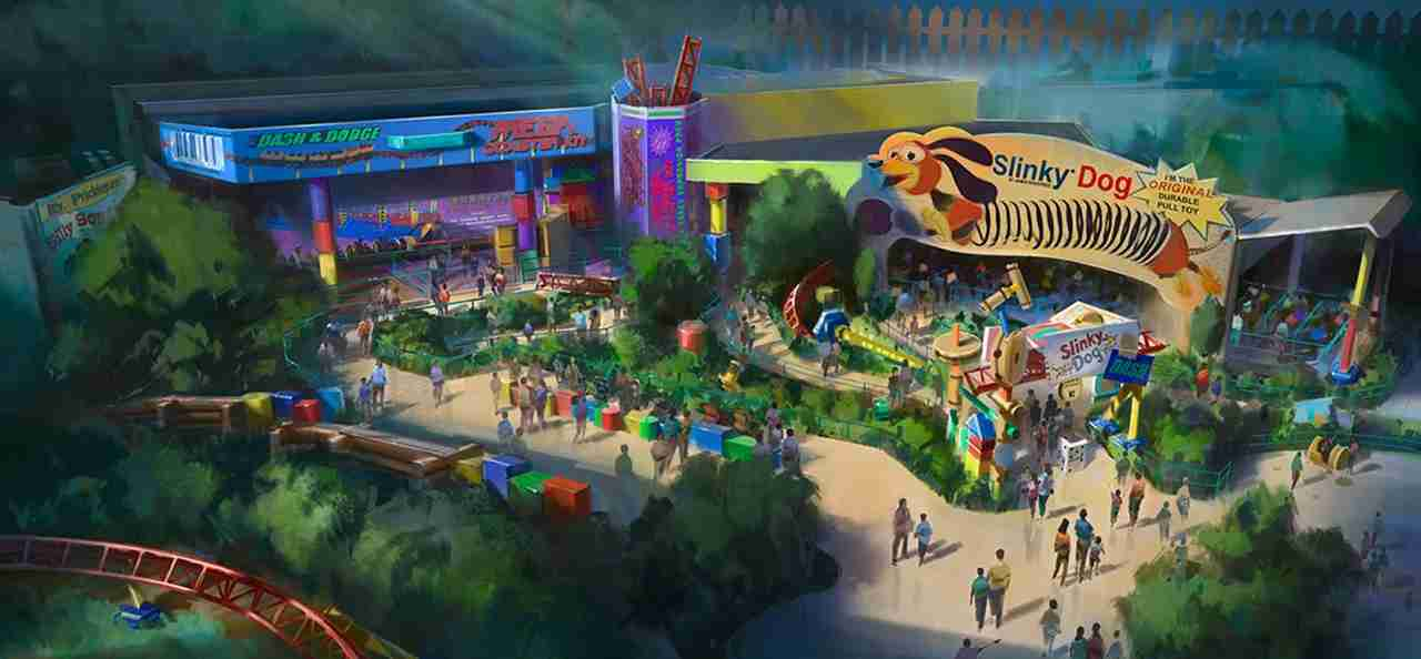 The new Toy Story Land, Disney
