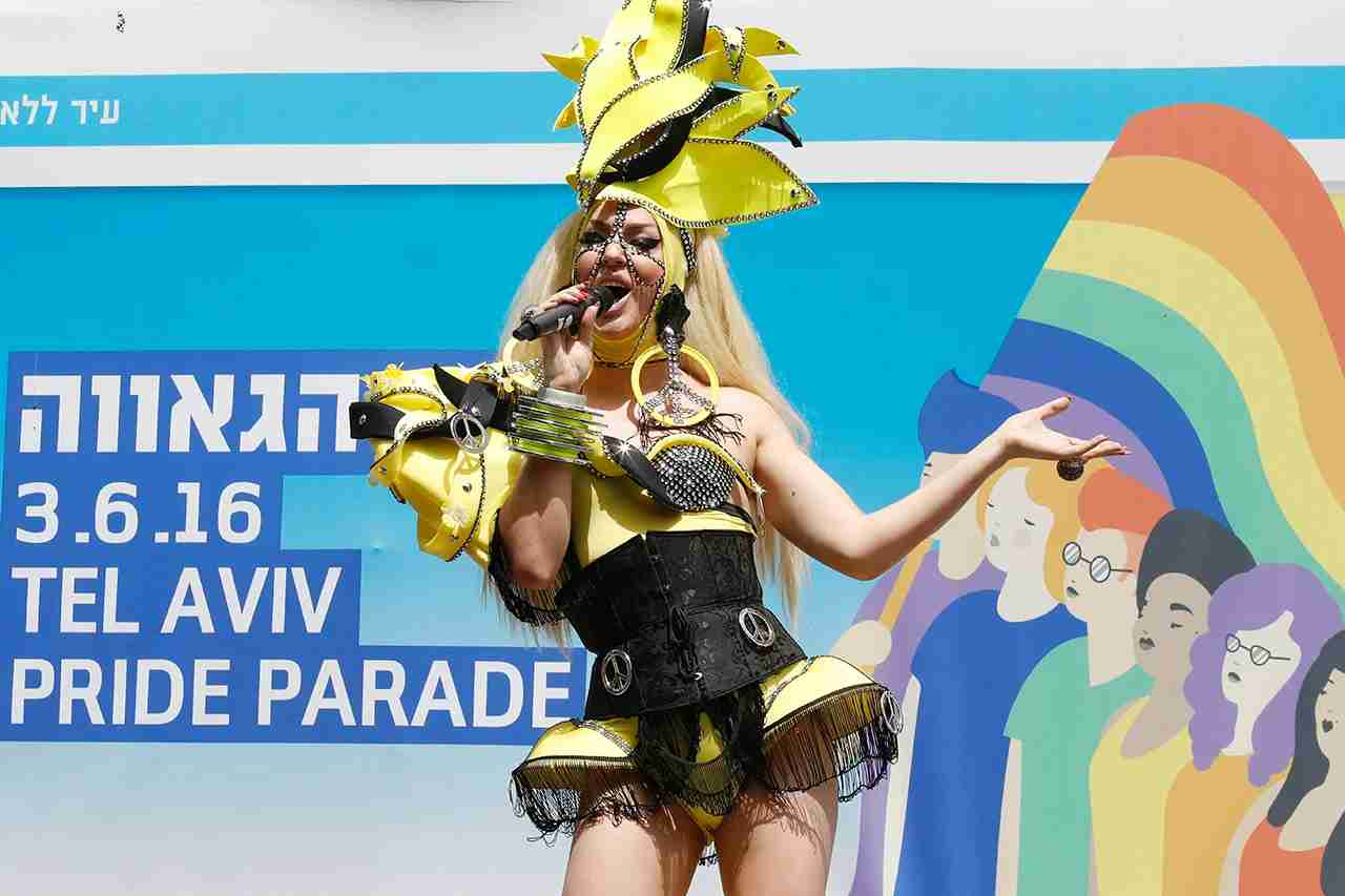 A drag queen performs during the opening event of the annual Gay Pride parade in the Israeli city of Tel Aviv, on June 3, 2016.A carefree and cosmopolitan crowd of tens of thousands of homosexuals, transsexuals and supporters took part it the Gay Pride in Tel Aviv, deemed one of the largest in the world where amid the crowd, tourists waved large flags of their country of origin to signify their presence in a city known as a rare oasis for LGBT (lesbian, gay, bi-sexual and transgender) in the Middle East. / AFP / JACK GUEZ (Photo credit should read JACK GUEZ/AFP/Getty Images)