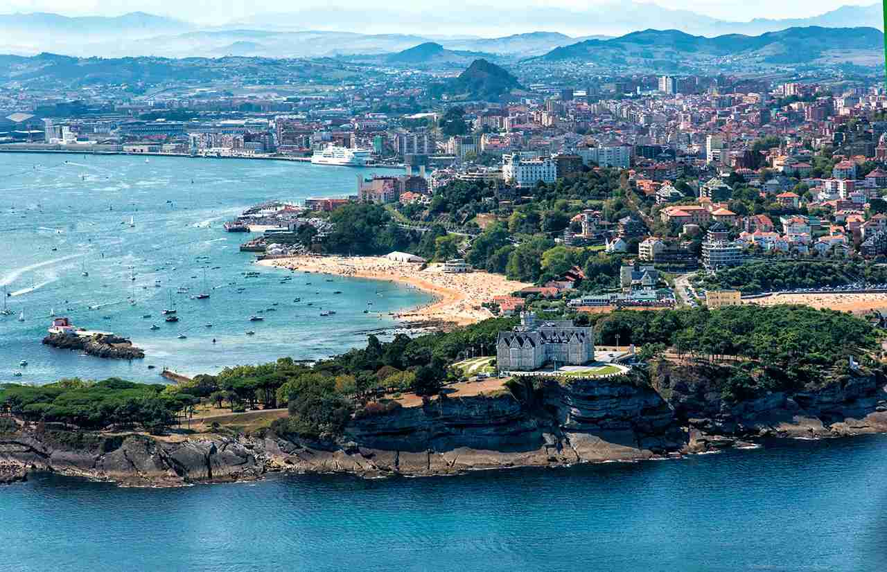 Aerial view of Santander Bay along with the Magdalena Peninsula. (Photo by Manuel Alvarez/Getty Images)