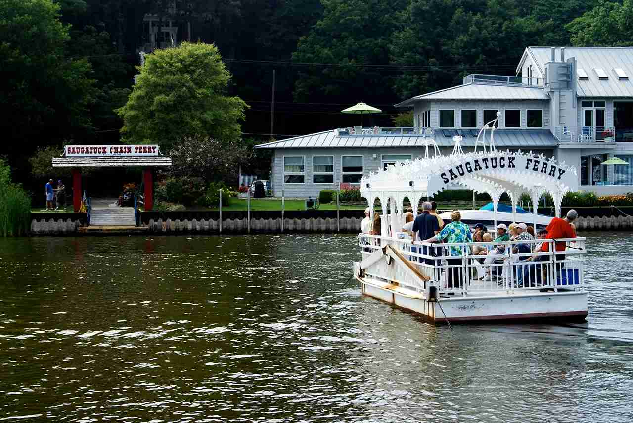 Saugatuck Chain Ferry, Saugatuck, Michigan. (Photo by ClatieK via Flickr)