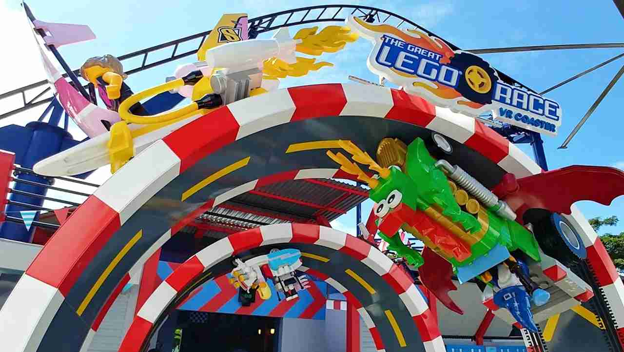 The Great Lego Race at LegoLand, Florida. (Photo courtesy of LegoLand)