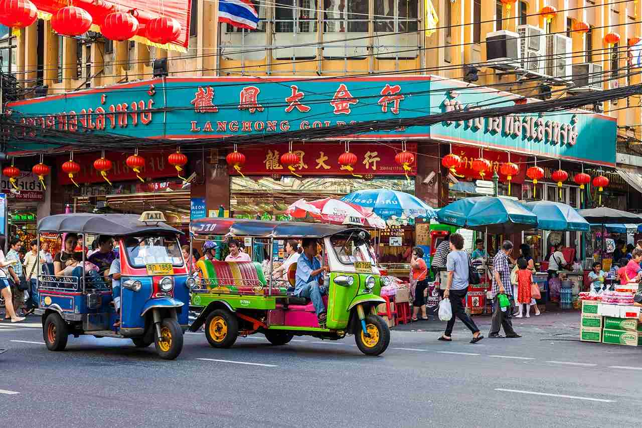 Tuk-tuks in Chinatown, Bangkok, Thailand. (Photo by fototrav / Getty Images)