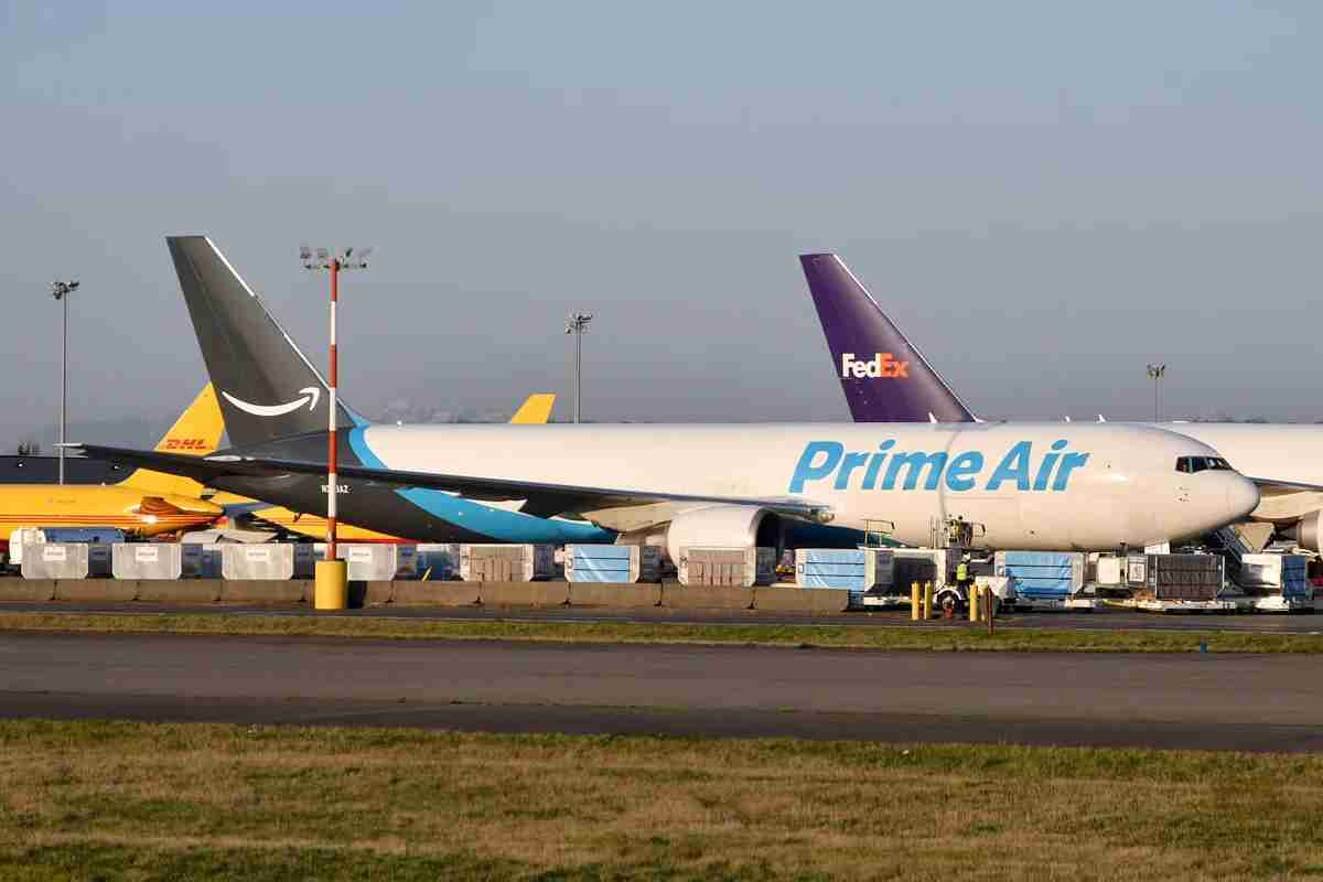 A Boeing 767-300 freighter belonging to Amazon