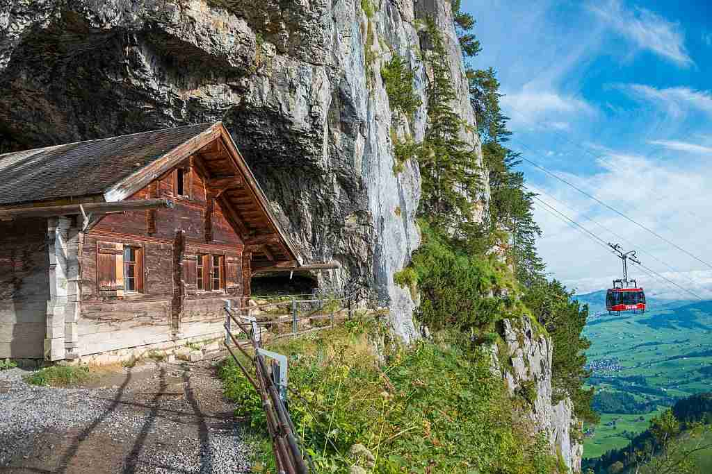 Wildkirchli cave in Appenzell. (Photo by: Prisma Bildagentur/UIG via Getty Images)