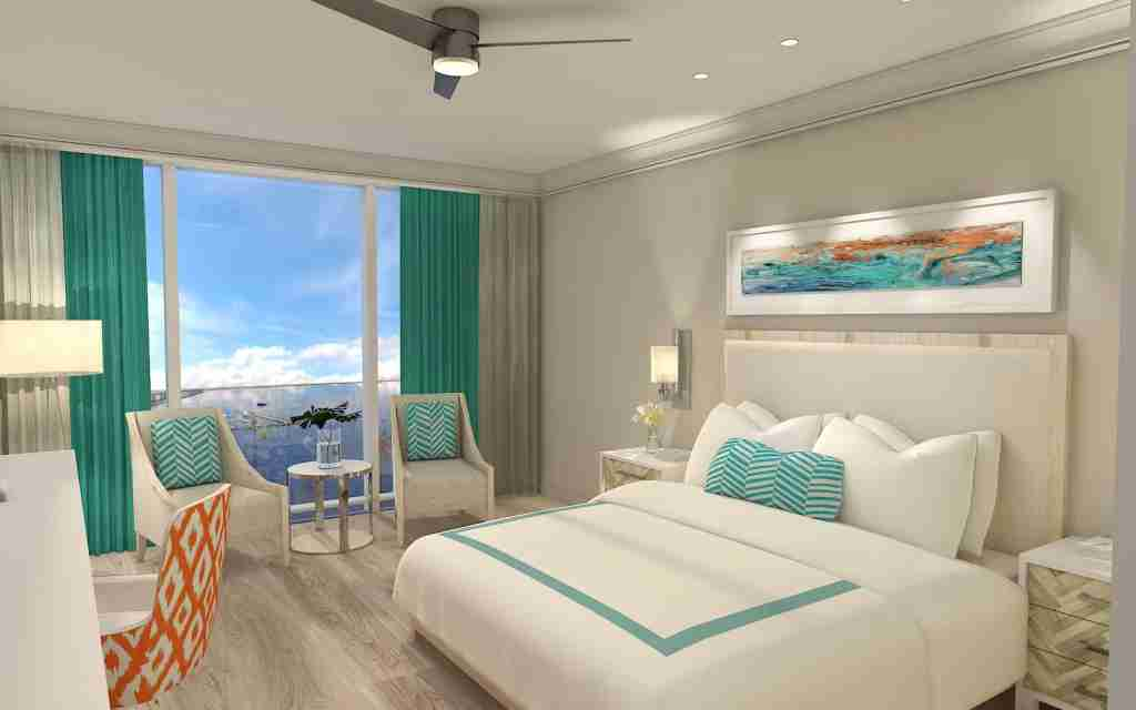 A rendering of a King Room. Image via Sunseeker.