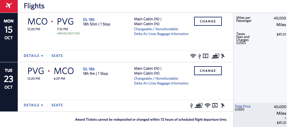 Delta Sale Fly To Shanghai From 40000 Skymiles Round Trip