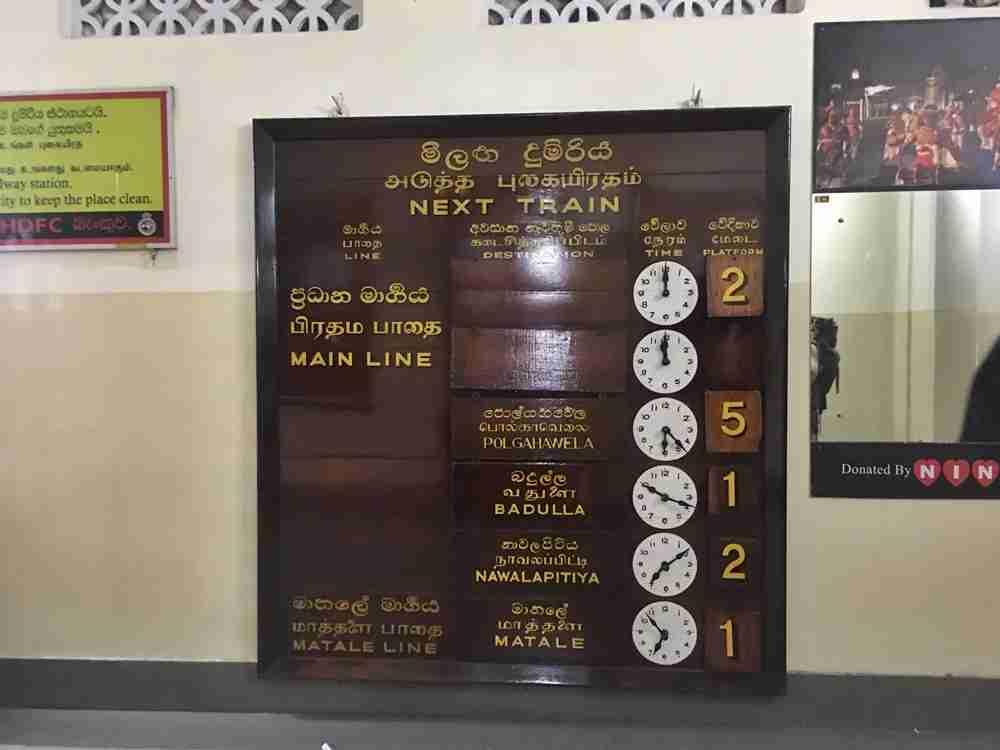The Kandy station
