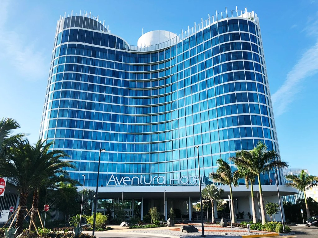 The new Universal Studios Aventura Hotel (Photo by Summer Hull / The Points Guy)