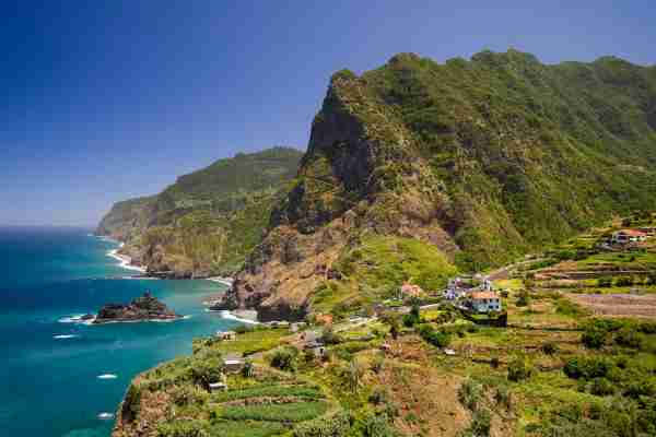 The green cliffs of Ponta Delgada on Madeira island in summer. (Photo by Dennis Fischer Photography/Getty Images)