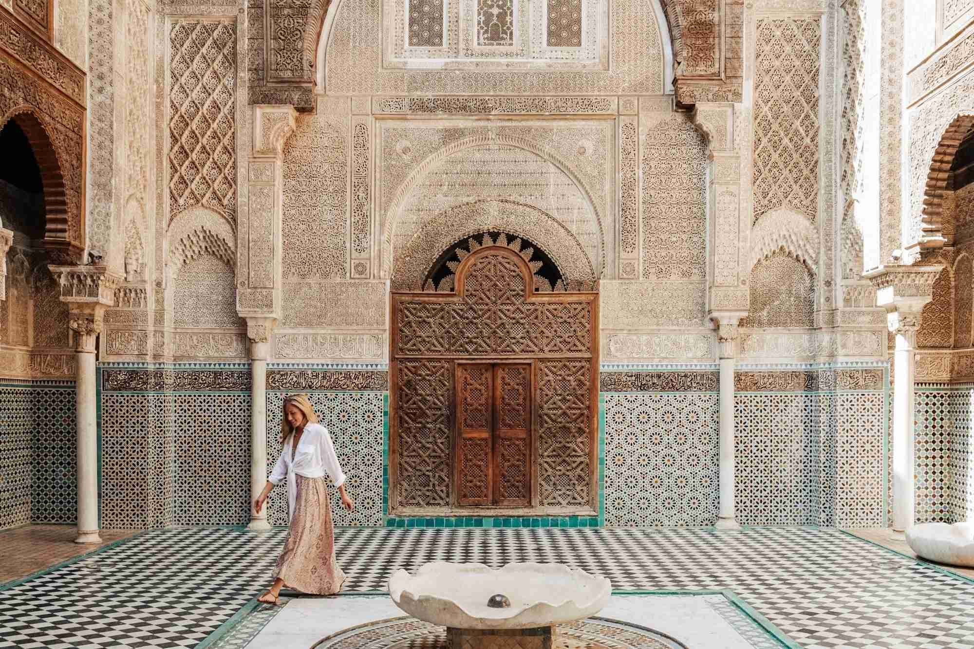 Michelle says she dresses more conservatively in religiously conservative countries like Morocco. Image courtesy of Live Like It