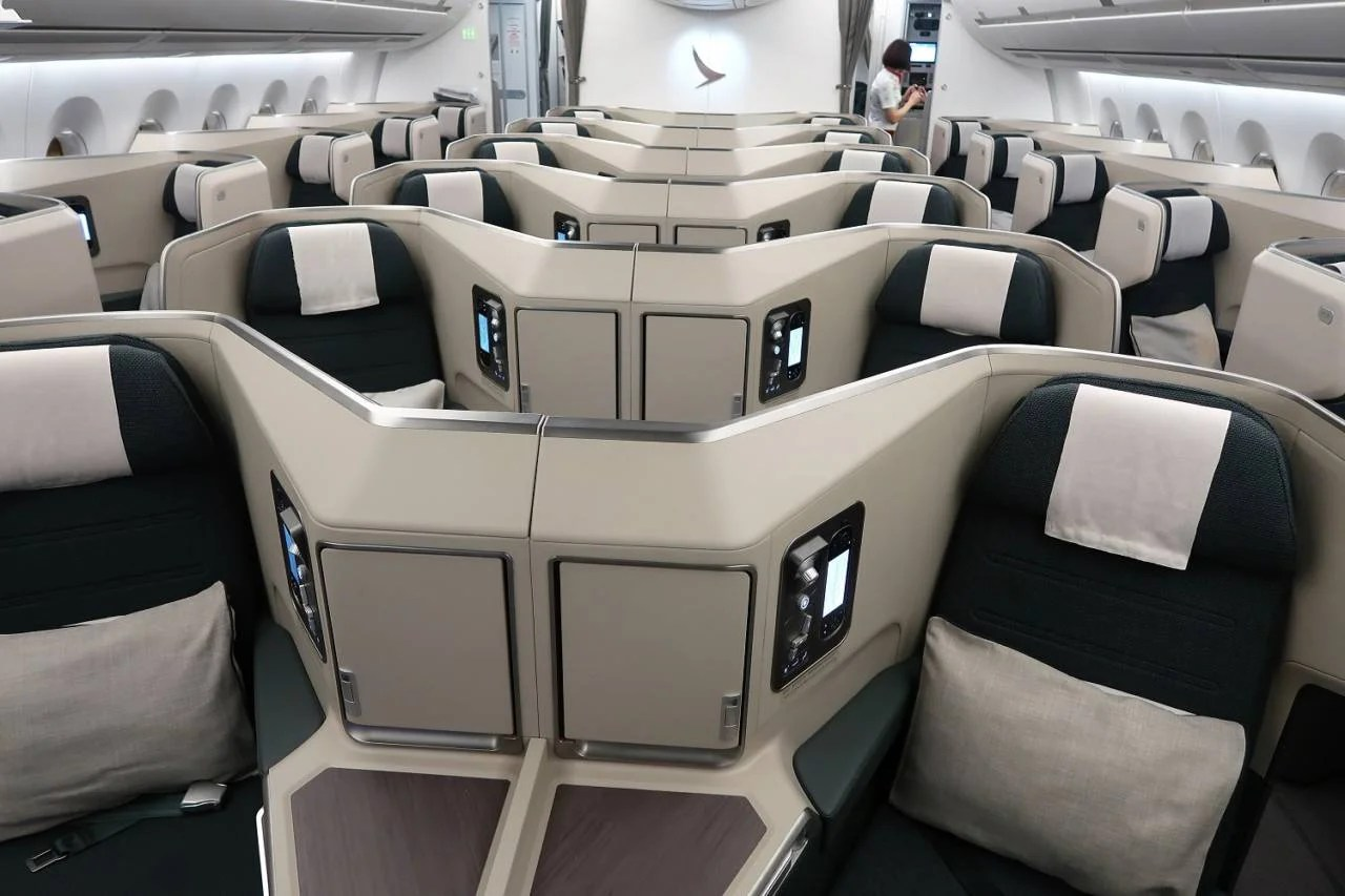 Review: Cathay Pacific (A350-1000) in Biz From IAD to HKG
