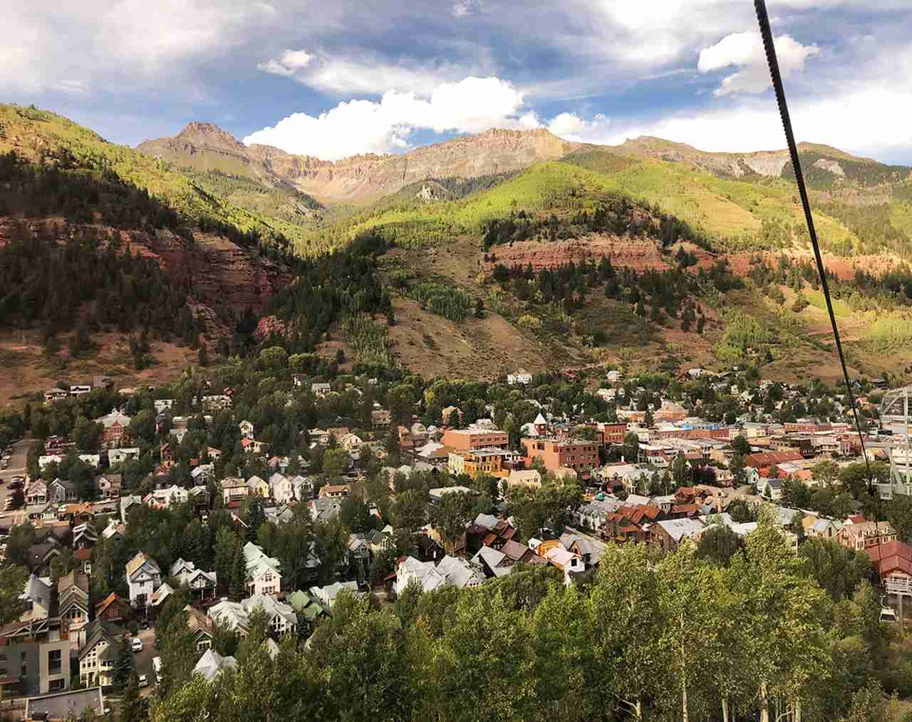 View from the Telluride gondola