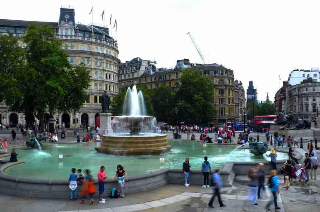 View of Trafalgar Square, London on August 22, 2018. (Photo by Alberto Pezzali/NurPhoto via Getty Images)