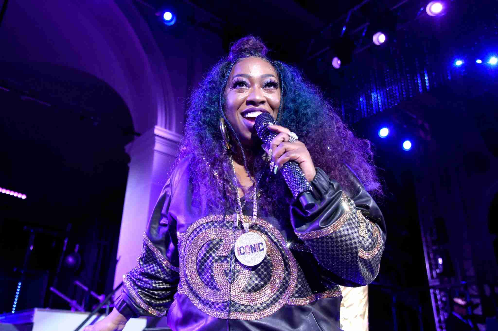 NEW YORK, NY - SEPTEMBER 10: Missy Elliott performs her chart-topping hits at the Yellow Ball, hosted by American Express and Pharrell Williams, at the Brooklyn Museum on September 10, 2018 on September 10, 2018 in New York, New York. (Photo by Kevin Mazur/Getty Images for American Express)