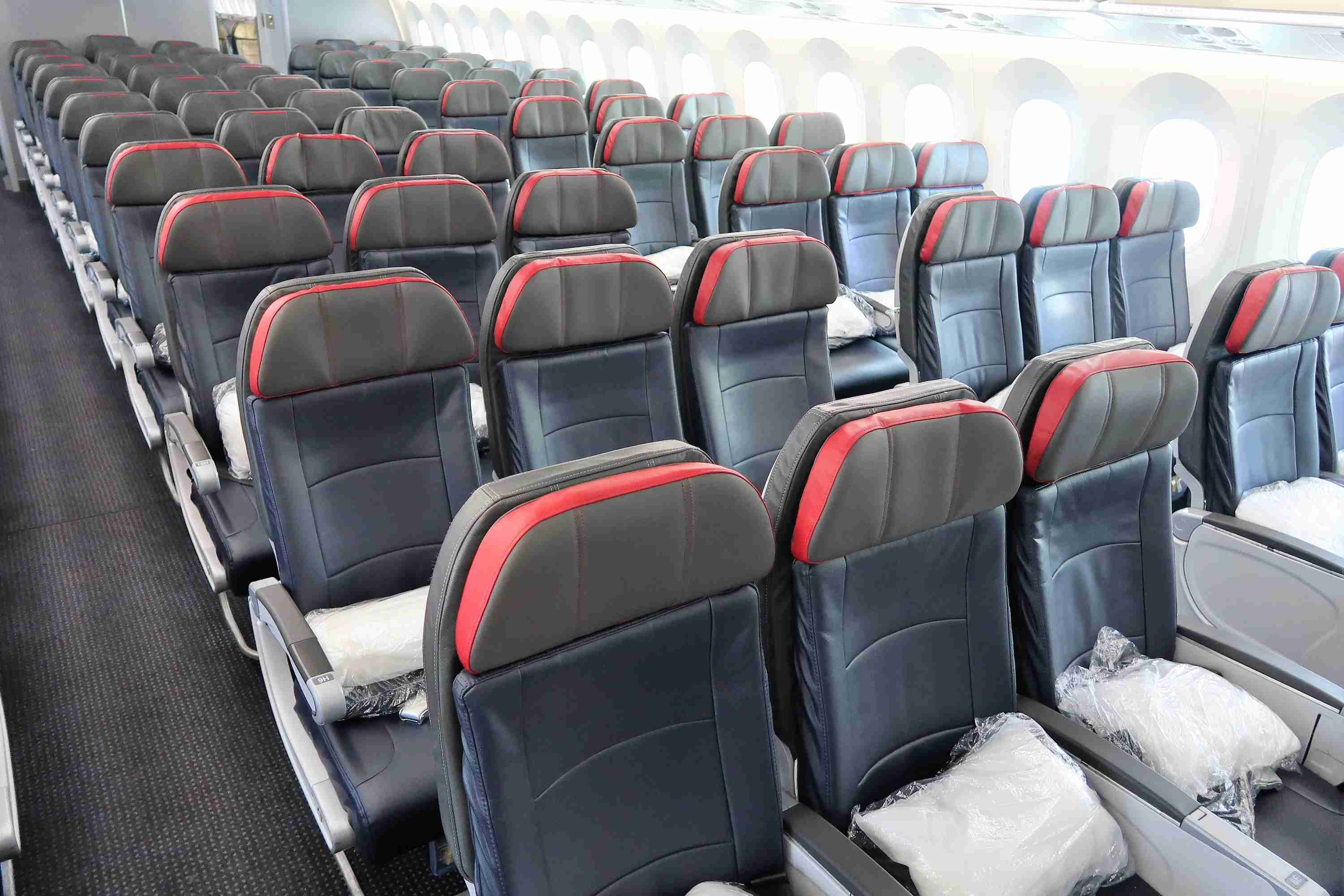 Economy seats on American Airlines Boeing 787-8. (Photo by Katie Genter / The Points Guy)