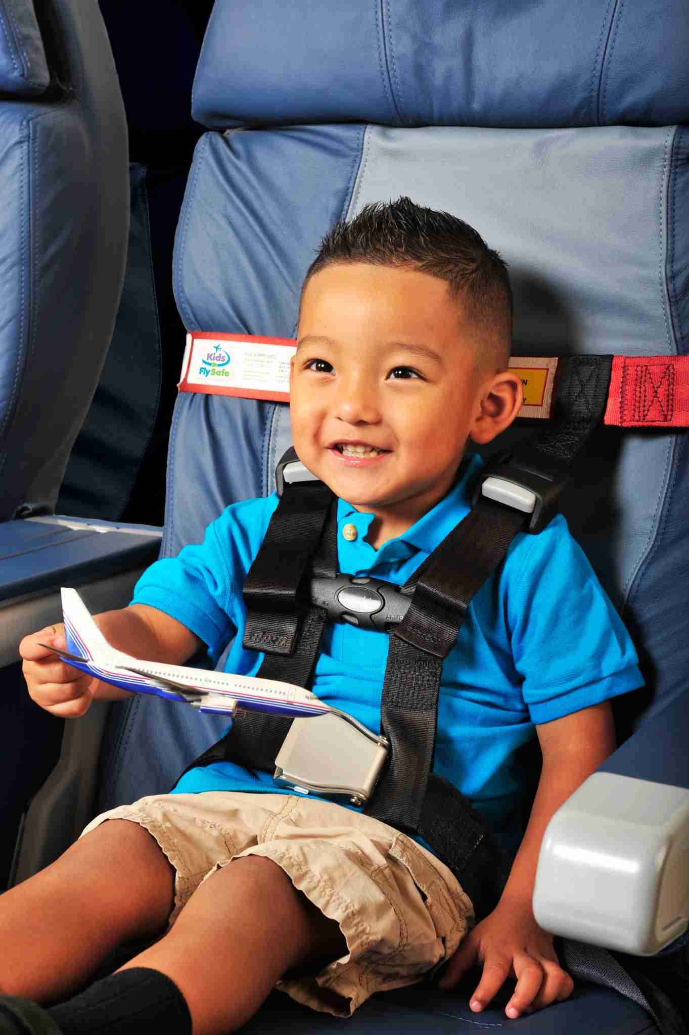 Property installed CARES Harness. (Photo courtesy of Kids Fly Safe)