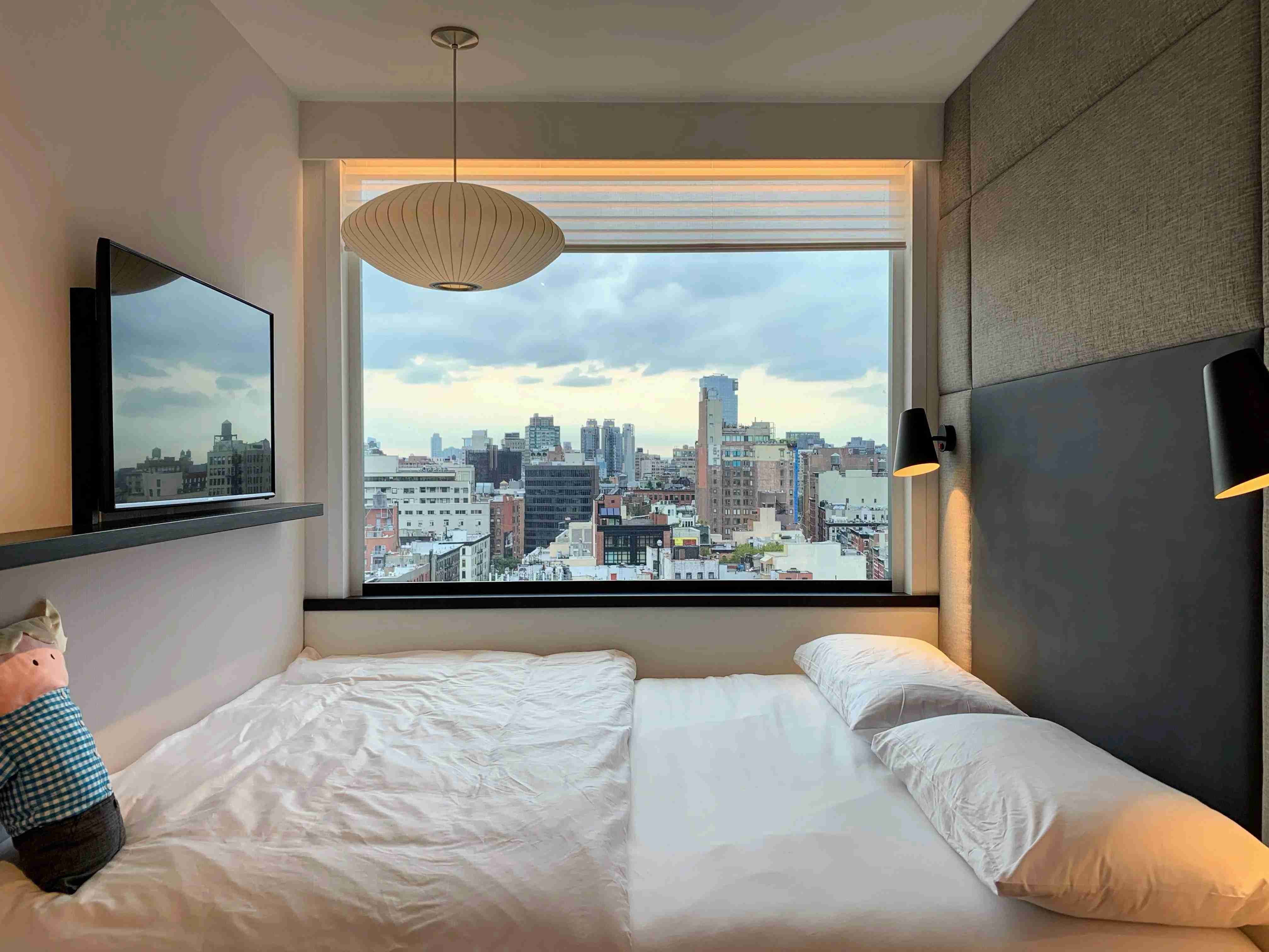 CitizenM Bowery New York Modular Hotel Room View (Photo by Darren Murph / The Points Guy)