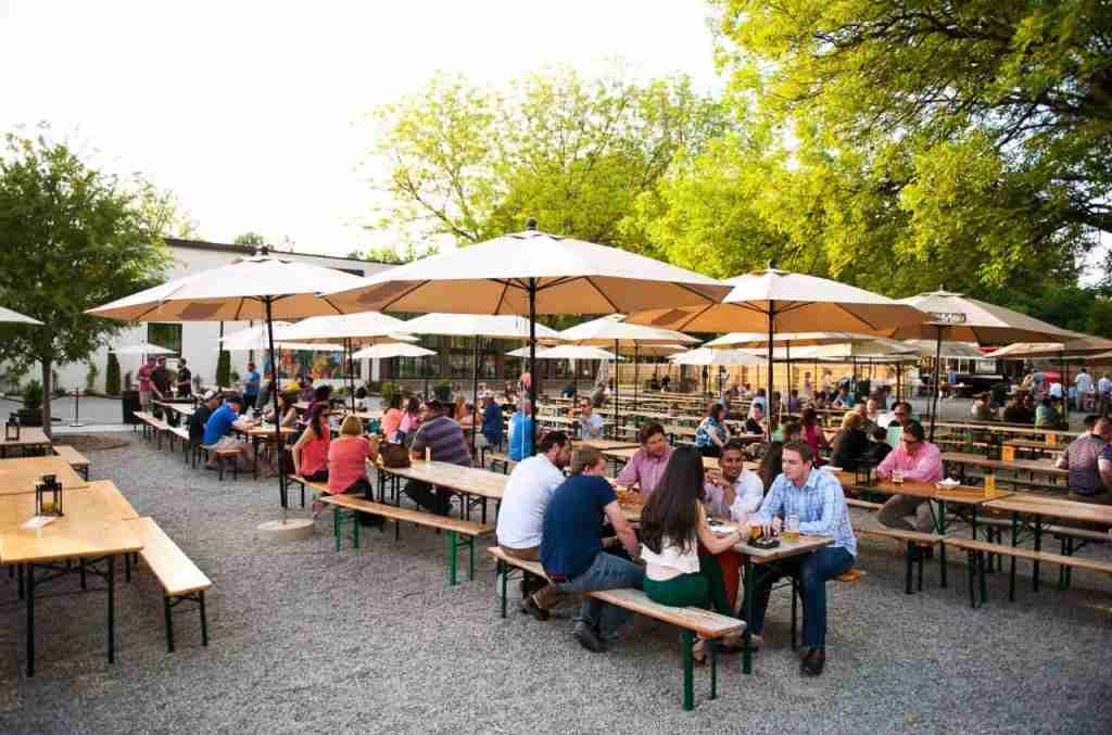 Relax in the biergarten. (Courtesy of the Olde Mecklenburg Brewery)