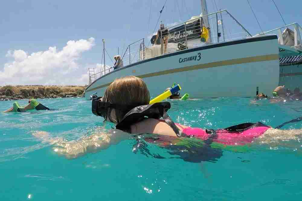 Snorkeling is a popular excursion kids love.(Photo by Kimberly Tate)