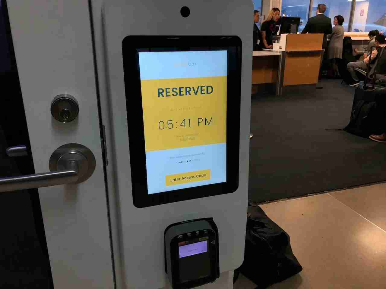 The Exterior Touch Panel Through Which Reservations are Handled