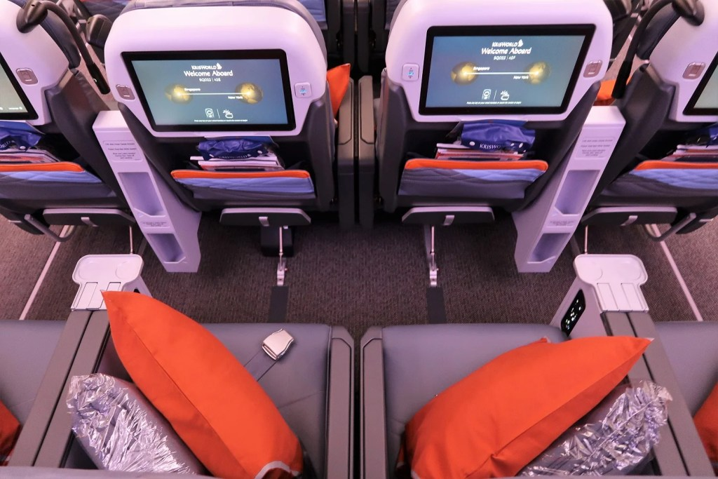 Singapore Airlines Premium Economy A350-900ULR Singapore-Newark