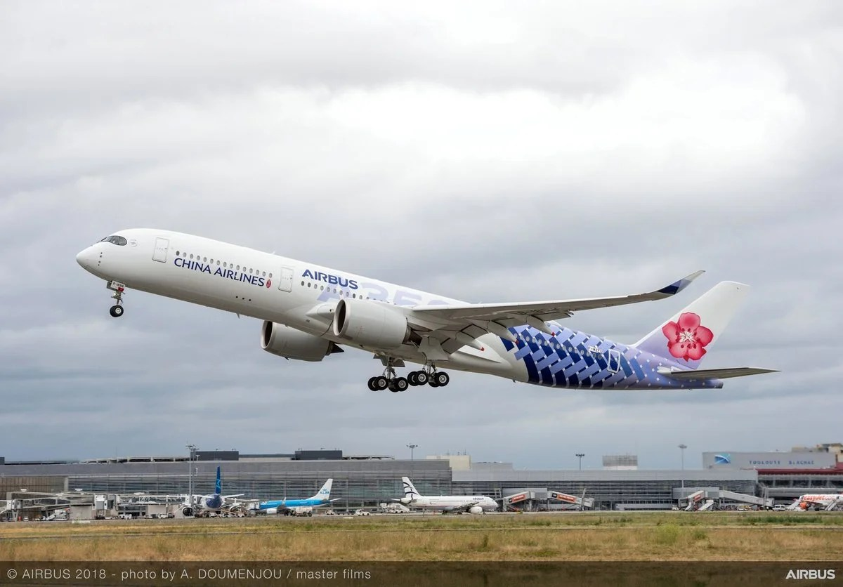 China Airlines Receives Newest A350 Dressed in Custom Livery