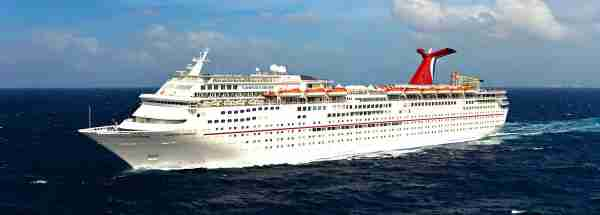 The 2,052-passenger Carnival Fantasy. (Photo courtesy of Carnival Cruise Line)