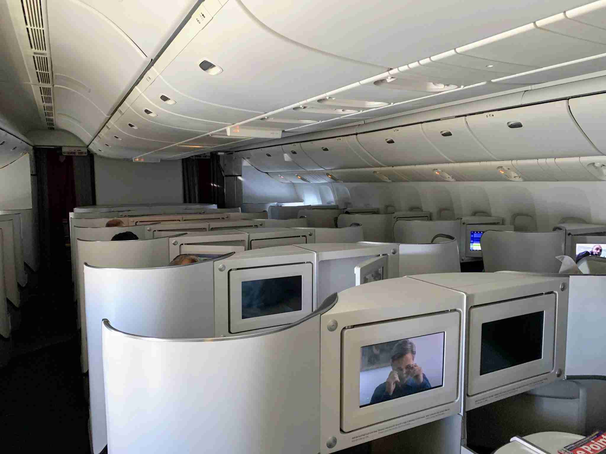 Air France Boeing 777 Forward Business Class rear facing