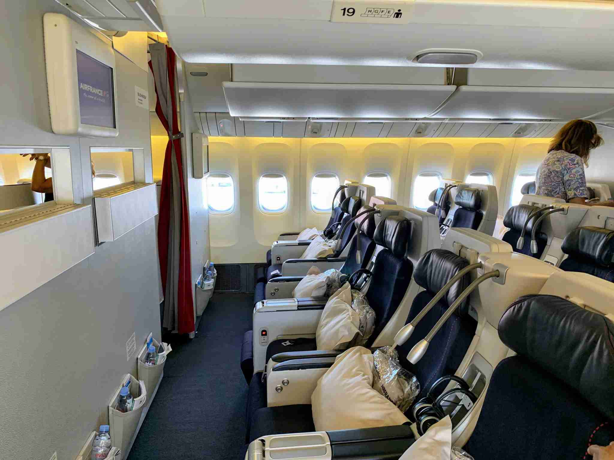 Air France Boeing 777 Premium Economy Bulkhead wall