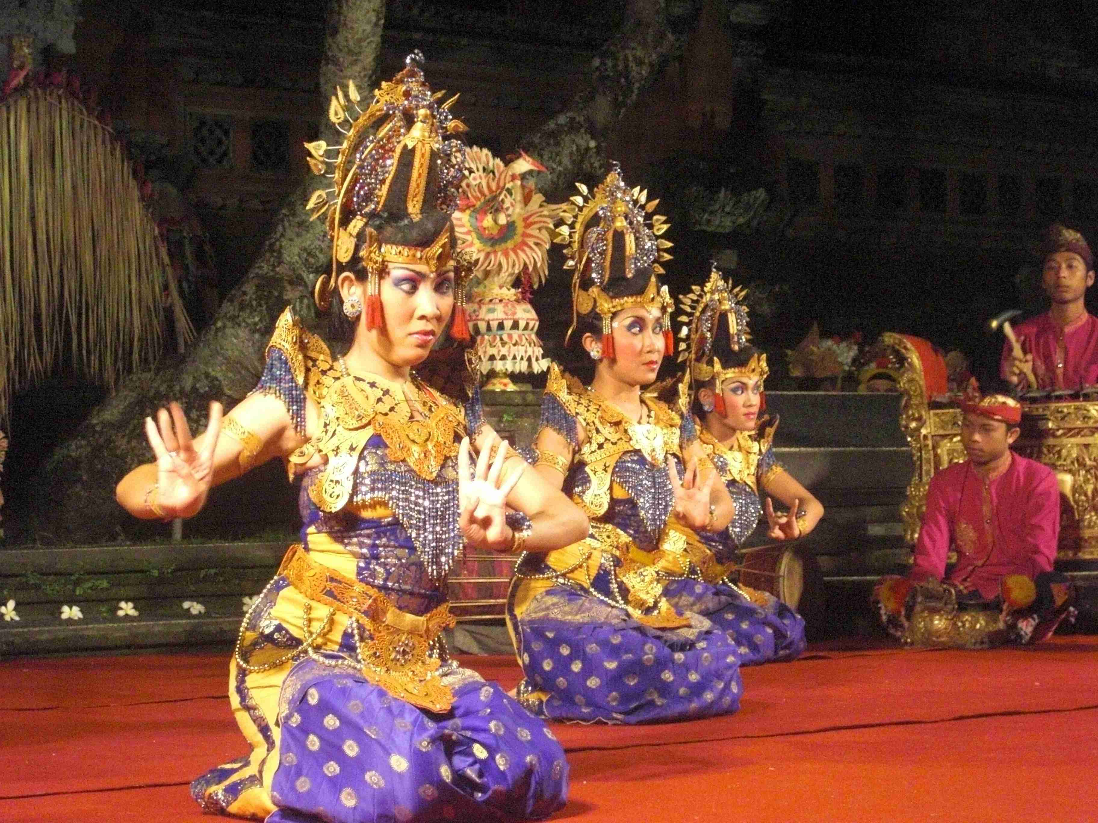 A traditional dance performance at a temple in Ubud, Bali. Photo: Elen Turner