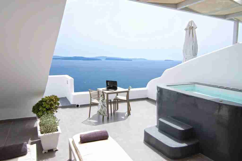 "A base ""Pure Suite"" at the Santorini Secret Suites & Spa. Photo courtesy of the hotel."