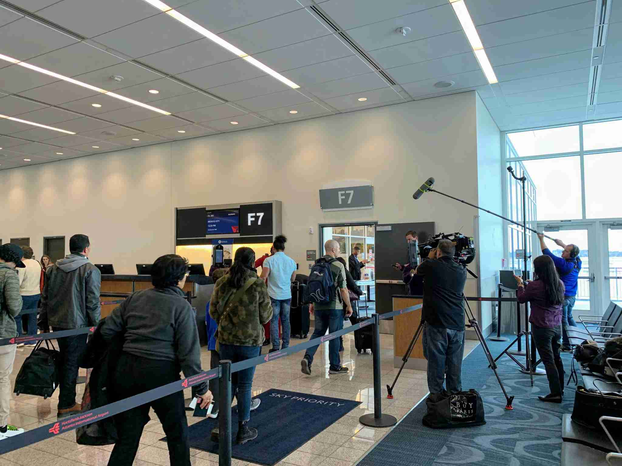 Even with media watching, biometric boarding was relatively snag-free