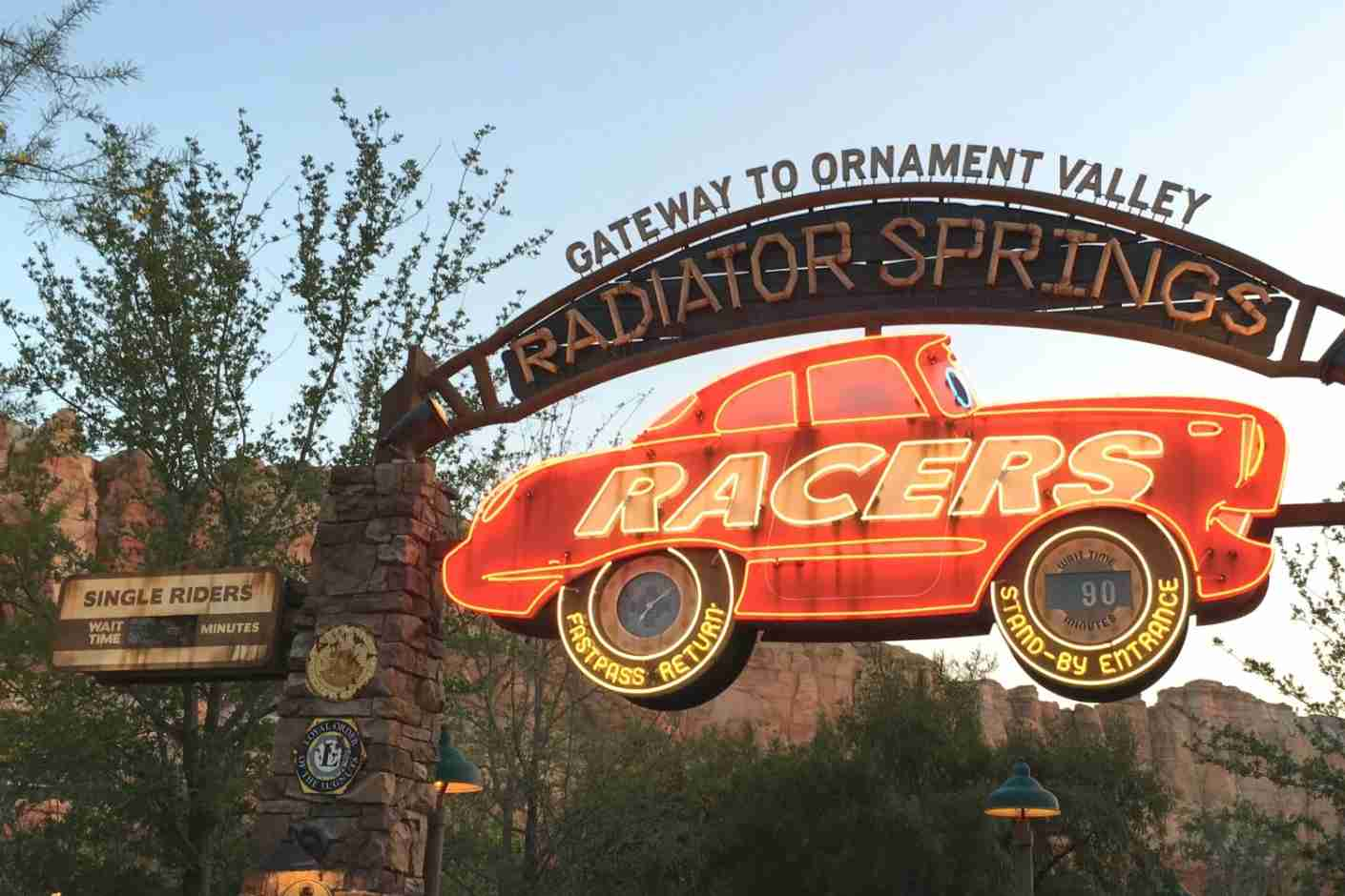 Disneyland Lines - Single Rider Line at Radiator Springs Racers