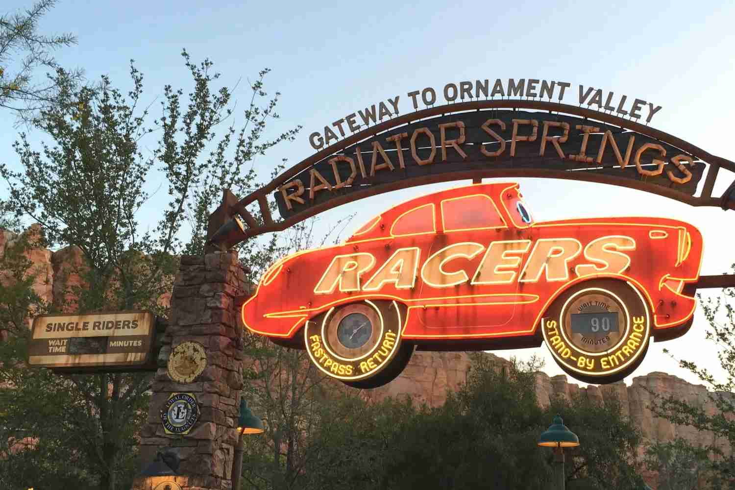 Disneyland Lines - Single Rider Line at Radiator Springs Racers
